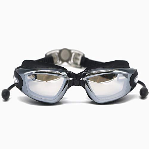32642893b491d Hersvin Kurzsichtig Schwimmbrillen (0 bis -800) Kurzsichtigkeit UV400  Anti-UV Anti Nebel