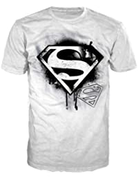 T-Shirt 'Superman' - blanc - With Black Logo - Taille XL