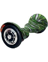 "SmartGyro Serie XL Silicone Cover Camuflaje, Funda protectora silicona antideslizante para patín eléctrico/ / hoverboard / Smart Scooter, color verde camuflaje , rueda 10"""