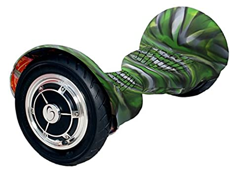 smartgyro série xL silicone cover Camouflage, Housse en silicone couverture antidérapante pour trottinette électrique//Hoverboard/Smart Scooter, vert camouflage, roue 10