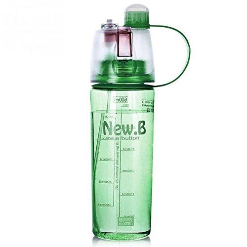 Trinkflaschen mit Spray BPA-frei und Weichmacherfrei, spülmaschinenfest + gefrierschrankgeeignet, ideal als Trinkflasche für Sport und Fitness