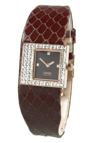 Esprit EL900422004 - Reloj para mujeres, correa de cuero color marrón