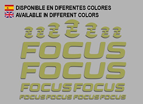 Ecoshirt 7S-2TZA-JUZ6 Aufkleber Focus F192 Stickers Aufkleber Decals Adesivi MTB Cicle Bike, Gold