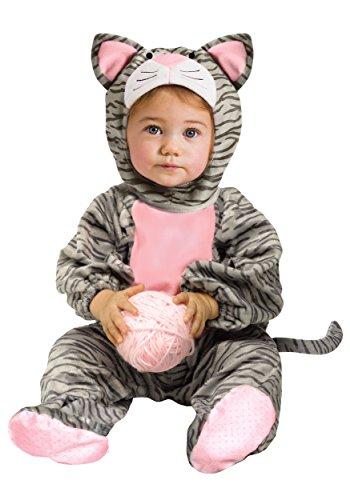 WMU - Kätzchen Kostüm grau gestreift für Kleinkinder 12 Monate - 24 Monate