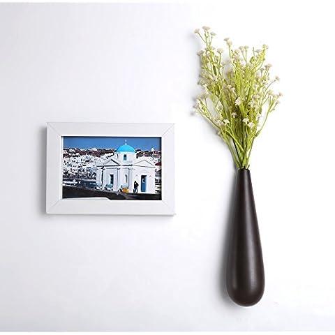 flintronic 3PCs Colgante Pared Macetas de Flor de Cerámica / Florero Planta para Decoración del Hogar Oficina
