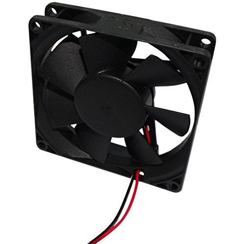 AERZETIX: Ventilateur pour boîtier d'ordinateur PC 12V 80x80x20mm 61m3/h 38dBA 3300rpm 24AWG C16221