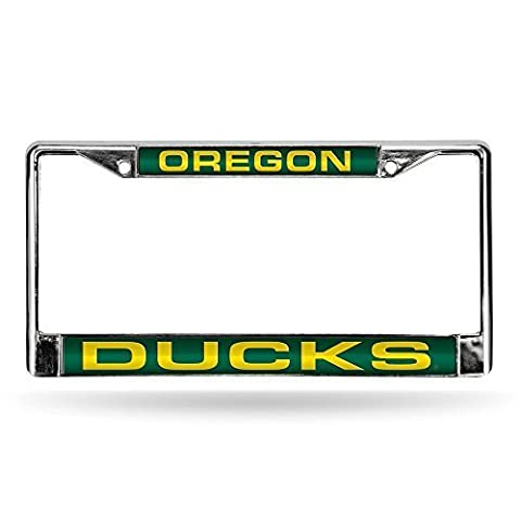 Oregon Ducks Official NCAA 12 inch x 6 inch Metal License Plate Frame by Rico