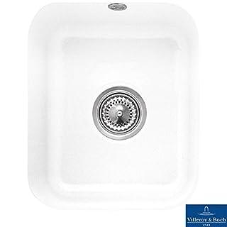Villeroy & Boch Cisterna 45 1.0 Bowl White Ceramic Undermount Kitchen Sink - NO WASTE