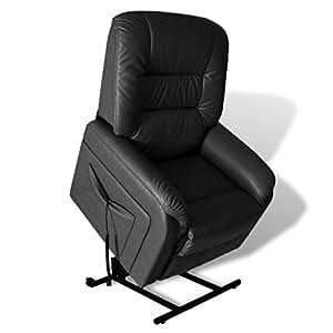 vidaxl elektrisch fernsehsessel relaxsessel aufstehhilfe schwarz k che haushalt. Black Bedroom Furniture Sets. Home Design Ideas