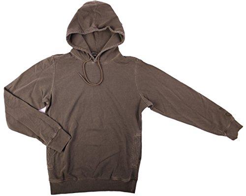 Diesel Herren Pullover umlt BRANDON FELPA Größe: L mit Kapuze, Sweatshirt, Sweatjacke Farbe: Grau-Grün