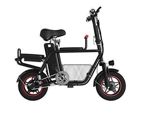 Creing Elektrischer Roller E-Scooter Faltbarer Power Scooter Mit Sitz Elektroroller StraßEnzulassung Cityroller 25 km/h,Black