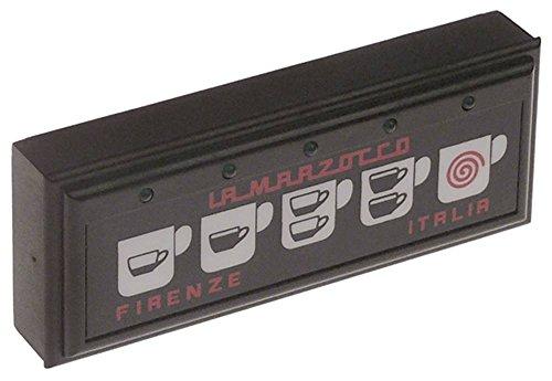 Marzocco Tastatureinheit 3D5+TEA für Espressomaschine 5 Tasten LED mit Teeprogramm Beleuchtung LED mit Teeprogramm