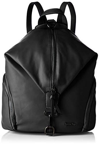 Boscha Damen Backpack Rucksackhandtasche, Schwarz (Black), 17 x 32 x 27 cm