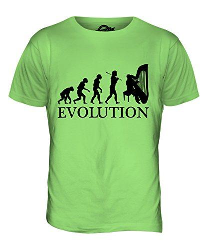 CandyMix Harfe Evolution Des Menschen Herren T Shirt Limettengrün