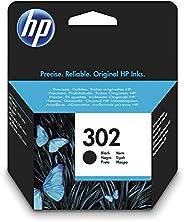 HP 302 F6U66AE Negro, Cartucho Original, de 190 páginas, para impresoras HP Deskjet serie 1110, 2100, 3600; HP