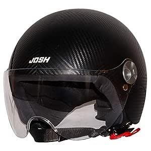 Steelbird SBH-16 Josh Dashing Open Face Helmet ( Dashing Black with Plain Visor)