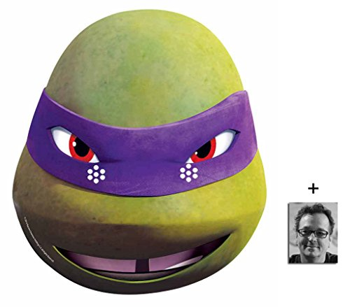 April Kostüm Tmnt - Donatello Teenage Mutant Ninja Turtles (TMNT 2015) Single Karte Partei Gesichtsmasken (Maske) Enthält 6X4 (15X10Cm) starfoto