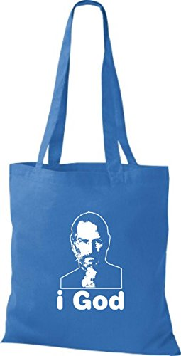 ShirtInStyle Stoffbeutel Steve Jobs in Memory of Baumwolltasche Beutel, diverse Farbe bright royal