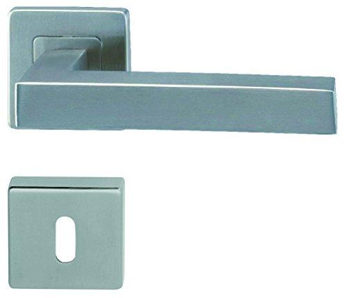 Türklinke, Türgriff, Drückergarnitur, Modell Mona2 in Edelstahl-sat. für Zimmertüren (normale Innenschlüssel)