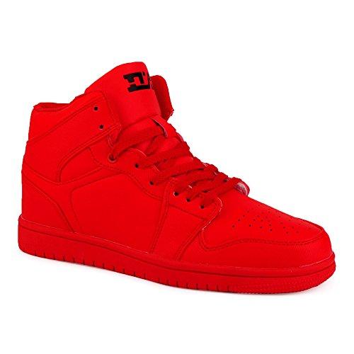 Herren Sneaker High Top Sportschuhe Basketball Schuhe Rot EU 42