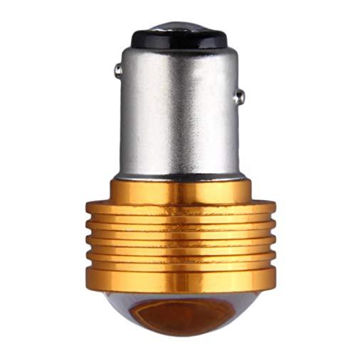 Preisvergleich Produktbild Universal New 3W Blinker Lampe Doppelwinkel Bremsleuchte 1157 Rückfahrscheinwerfer Gelb & Silber