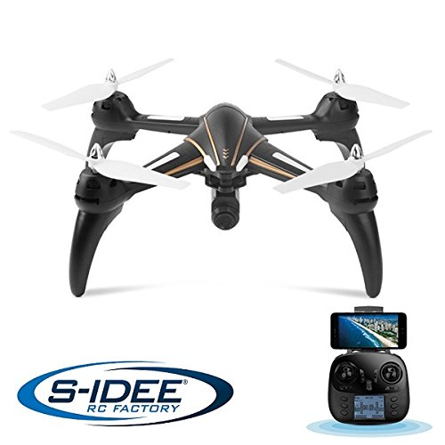 s-idee® 17106 S393 Wifi Drohne HD Kamera FPV Quadrocopter Höhenstabilisierung, One Key Return, Coming Home/Headless VR möglich, Drone 360°Top Funktion,2.4 GHz mit Gyro,4-Kanal, 6-AXIS mit Camera 720p