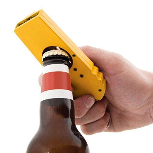 1/2 Stück Kapselheber für Flaschen Flaschenöffner Schlüsselanhänger Lonshell Bier Soda Glas Cap Öffner Party Geschenk Bierflaschenöffner Bar Werkzeuge Tasche Flaschen Öffner (Gelb) -