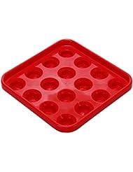 Sharplace Bandeja de 16 Bolas de Billar Regalos para Amante de Billar Accesorio de Club de Snooker - Rojo