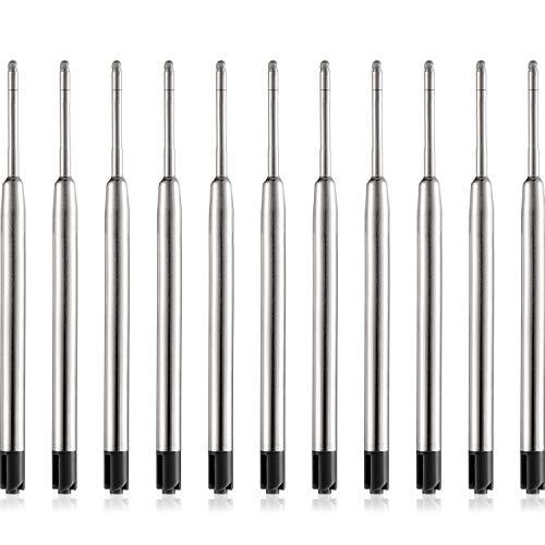 30 Pezzi Ricariche di Penna a Sfera Sostituibile Metallo Ricarica Liscio Scrittura Penna a Sfera Punto Ricariche Penna (Nero)