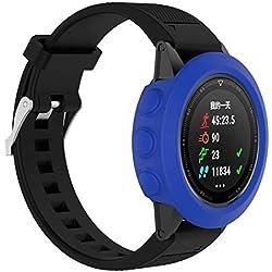 Chen Huan Cheng QW Montre Smart Watch Protection en Silicone Cas, hôte Non Inclus for Garmin Fenix 5 (Blanc) (Color : Dark Blue)