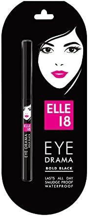 Elle 18 Eye Drama Kajal, Bold Black, 0.35g