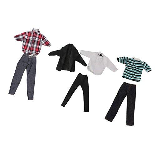 MagiDeal 3 Set Puppenkleidung Anzug Für Ken Barbie Puppen (Prince Kostüm Up Dress)