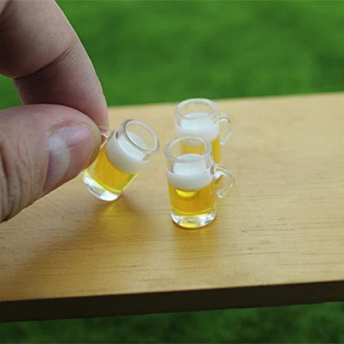 gzzebo Mini-Bierbecher, Miniatur-Lebensmittel, DIY Gartendekoration, Puppenhaus-Zubehör Multi - Möbel Puppenhaus Miniaturen