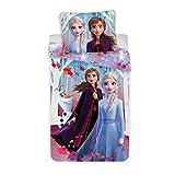 Disney Frozen - Set Copripiumino e Federa, 100% Cotone, 140 x 200 cm + 70 x 90 cm