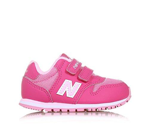 NEW BALANCE - Pink und rosa Sportschuh 500 infant, aus Synthetik und Mikrofaser, mit Klettverschluss, seitlich, hinten, Mädchen Rosa