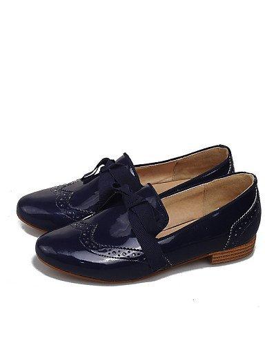 Shangyi Gyht Chaussures Femme-mocassins-décontracté-confortable / Bout Rond Bas-faux Cuir-noir / Bleu / Blanc Noir Et Blanc