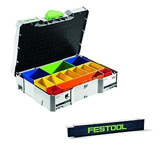 Festool Systainer - T LOC SYS - 1 Box Sortierbox + Einsätzen & zusätzlichen Meterstab Sonderedition