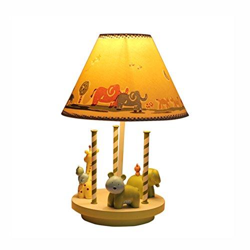 chleuchte- Merry-Go-Round Modellierung Tischlampe Prinzessin Schlafzimmer Nachttischlampe Mädchen Zimmer Kreative Kinder Cartoon Warm und Schöne Dekorative Lichter (Rabatt Wohnkultur Stoff)