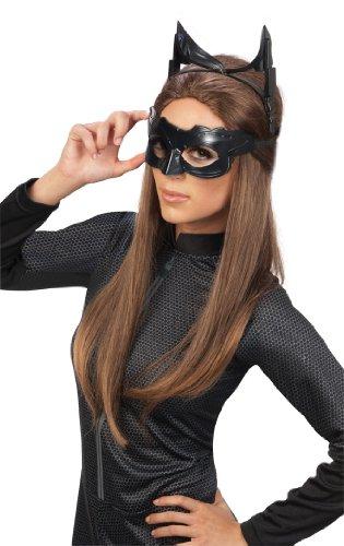 Catwoman Deluxe Brille & Maske für Erwachsene Kostüm-Zubehör-Set