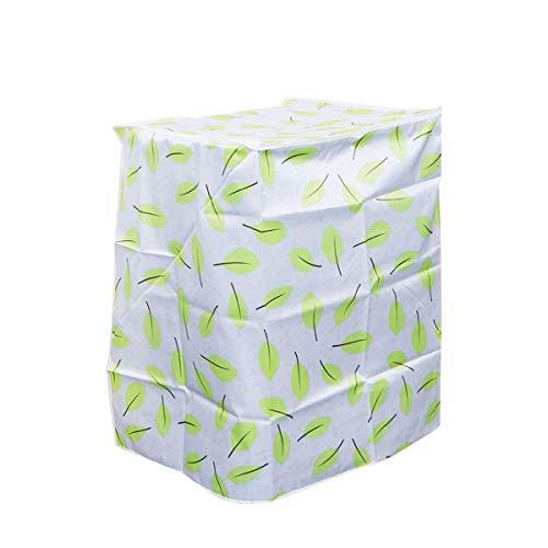 Lioobo coprilavatrice verticale impermeabile con cerniera anti-spruzzi e anti sunlight 54x54x82cm (foglie)