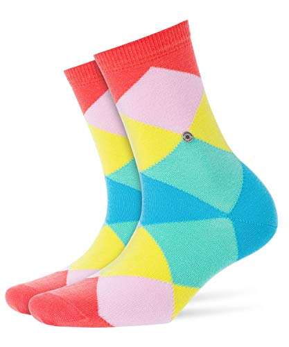 Burlington Damen Bonnie Socken Damensocken Baumwolle, Blickdicht, Mehrfarbig Red 8814, 36/41 (One Size)