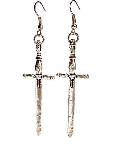 Geralin Gioielli Damen Ohrringe Silber Schwert Ohrhänger -
