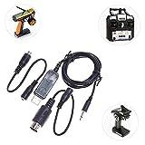 NAttnJf Cavo simulatore USB per Elicottero Flysky SM100 RC da 1,5 m per Controller remoto FS-i6 FS-i4 FS-T9 FS-T6 FS-T6 FS-T6B FS-GT4B FS-GT3 FS-GT3B FS-GT2