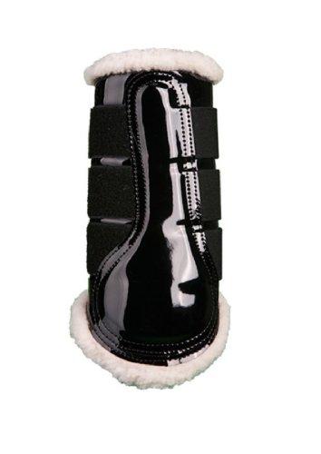HKM 547989 HKM Gamaschen - Comfort Lack -, weich gefüttert (schwarz, M)