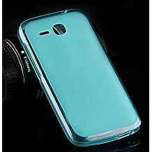 Prevoa ® 丨 Huawei Y600 Funda - Silicona TPU Funda Cover Case para Huawei Ascend Y600 5.0 Pulgadas Smartphone - Azul