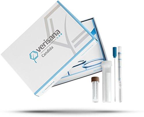 Verisana Candida Test | Stuhltest PLUS Zungenabstrich auf Candida albicans, Candida spec., Geotrichum candidum, Schimmelpilze | Pilzinfektion im Stuhl und Mund per Pilztest feststellen