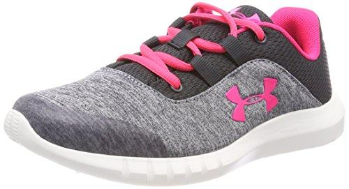 Under Armour Mädchen Grade School Shoes Mojo Girl Laufschuhe, Schwarz (Anthracite), 38.5 EU (Girls Under Armour Schuhe)
