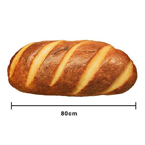 Peluche, cuscino del cuscino del giocattolo della peluche di forma del pane simulato