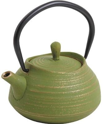 Théière en fonte verte 0.4 litres 14,5x13x9.5cm