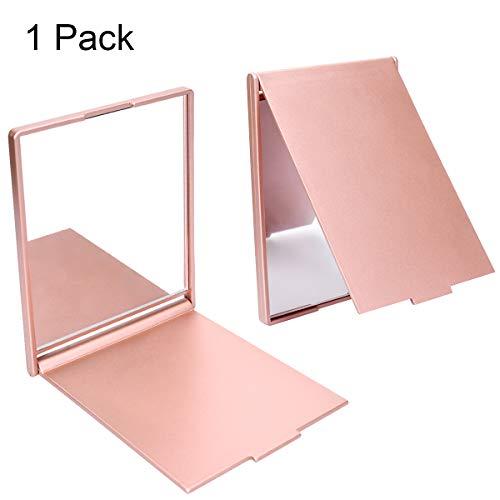LegendTech Reise Kleiner Spiegel Portable Klappspiegel Tasche Kosmetikspiegel Kompaktspiegel für Make-up Hair Styling und Rasur 11,5 × 9,5 cm Rose Gold